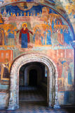 Church interior with original 17th century frescos Royalty Free Stock Image