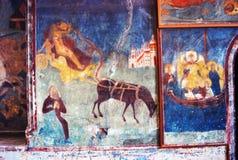 Church interior with original 17th century frescos Stock Photo