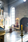 Church interior. Orthodox church interior with icons and candles Royalty Free Stock Photography