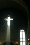 Church interior. Orthodox church interior with icons and candles Stock Image