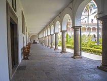 Church Interior patio corridors Stock Images