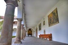 Church Interior patio corridors Royalty Free Stock Images