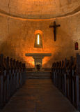 Church interior Provence. Interior of the church of Tourtour village in Provence, France Royalty Free Stock Image