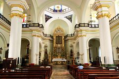Church interior in Puerto Vallarta, Mexico. Our Lady of Guadalupe church interior in Puerto Vallarta, Jalisco, Mexico royalty free stock images