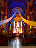 Church interior. Richly decorated church interior in Istanbul, Turkey Stock Image