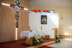 Church interior. Small nice christian church interior Royalty Free Stock Images