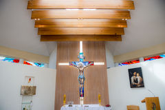 Church interior. Small nice christian church interior Royalty Free Stock Photography