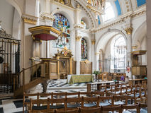 Church interior, St. Mary le Bow, London Royalty Free Stock Photos
