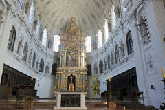 Church interior St. Peter in Munich Royalty Free Stock Image