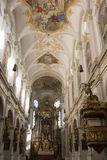 Interior  Church St. Peter in Munich Stock Photography