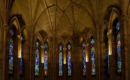 Church Interior With Tiffany Glass Royalty Free Stock Photography