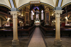 Church interior in Torun royalty free stock image