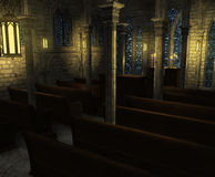 Church Interior at Twilight royalty free illustration
