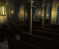 Church Interior at Twilight Stock Photos