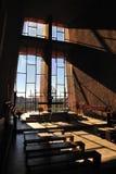 Church Interiors. Beautiful interiors of the Holy Cross church in Sedona, Arizona Stock Photos