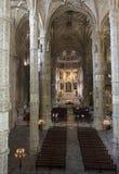 Church interiors of the Jeronimos Monastery Stock Image