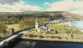 Church of Ireland Glenarm Northern Ireland. Church of Ireland Glenarm Co. Antrim Northern Ireland stock photos