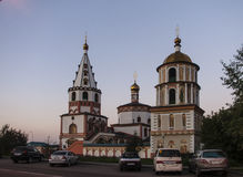 The church in Irkutsk ,russian federation. The church is taken in Irkutsk ,russian federation stock photos