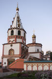 The church in Irkutsk ,russian federation. The church is taken in Irkutsk ,russian federation royalty free stock photo