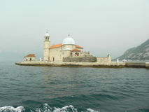 Church on the island  in the Bay of Kotor Stock Photos