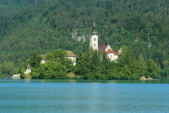 Church on island in Bled Royalty Free Stock Photos