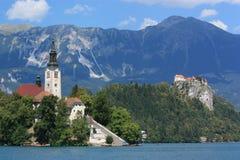 The Church on the Island Bled stock photos