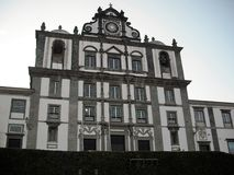 Church of the island of Faial. Azores, Portugal Royalty Free Stock Images