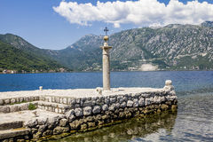 Church Island Gospa od Shkrpela in Kotor bay Royalty Free Stock Photos
