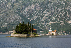 Church Island Gospa od Shkrpela in Kotor bay Stock Photo