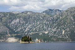 Church Island Gospa od Shkrpela in Kotor bay Stock Image