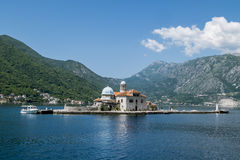 Church Island Gospa od Shkrpela in Kotor bay Royalty Free Stock Photos