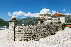Church Island Gospa od Shkrpela in Kotor bay Stock Photography