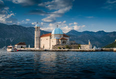 Church on the island Stock Photos