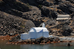 Church on an island in Greece Stock Photography