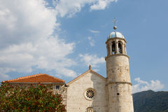 Church on island in Kotor Bay. Royalty Free Stock Photos