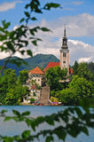 Church on an Island at Lake Bled Royalty Free Stock Photo