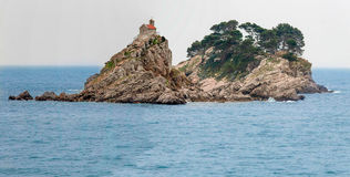 Church On Island. In the montenegro, seasight from Petrovac Stock Photography