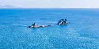 Holy sunday church. Church on island, in the montenegro, seasight from Petrovac Stock Photos
