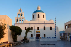 Church of the island of Santorini Stock Images