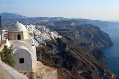 Church of the island of Santorini Stock Photos