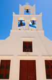 The church on the island of Santorini, Oia. Greece. Stock Images