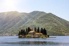 Church Island Sveti Dordje in Kotor bay Royalty Free Stock Photography