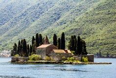 Church Island Sveti Dordje in Kotor bay Royalty Free Stock Photo
