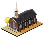 Church Isometric. Build Your Own World with Isometric Works Royalty Free Stock Photo