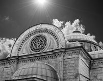 Church in istanbul. Agia Triada Church, istanbul, Black and white royalty free stock photo
