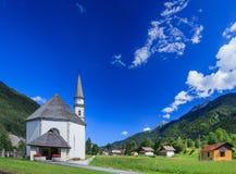 Church in Italian Alps Stock Photo
