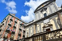 The Cathedral of Saint Paul Greatest in Naples. A church in this Italian city full of historical monuments stock photography