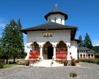 Church of Izvorul Muresului orthodox monastery, Transilvania Stock Image