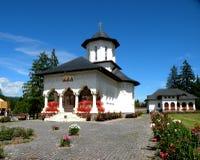 Church of Izvorul Muresului orthodox monastery, Transilvania Stock Photos