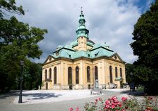 Church in the Jelenia Gora, Poland. Baroque church of the Uprising of the Holy Cross in the town Jelenia Gora, Poland Royalty Free Stock Photo